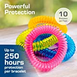 Anti Mückenschutz Armbänder   Natürlicher und DEET freier Insektenschutz – innen-und Außeneinsatz-wasserdicht – dauert bis zu 250 Stunden   Kind und Erwachsene freundlich (10 Stück) - 2