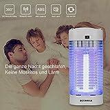 DEKINMAX Elektrischer Insektenvernichter, UV Insektenvernichter 18W Mückenlampe Schutz vor Elektrischem Schlag Tragbare Mückenfalle Fliegen Moskitos Für Innen Schlafzimmer Gärten. - 4