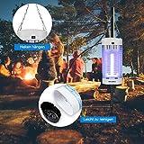 DEKINMAX Elektrischer Insektenvernichter, UV Insektenvernichter 18W Mückenlampe Schutz vor Elektrischem Schlag Tragbare Mückenfalle Fliegen Moskitos Für Innen Schlafzimmer Gärten. - 5