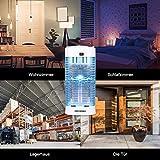 DEKINMAX Elektrischer Insektenvernichter, UV Insektenvernichter 18W Mückenlampe Schutz vor Elektrischem Schlag Tragbare Mückenfalle Fliegen Moskitos Für Innen Schlafzimmer Gärten. - 7