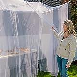 EVEN NATURALS MOSKITONETZ Doppelbett, XL Mückennetz für Bett, feinste Löcher, rechteckiger Netzvorhang Reise, Insektenschutz, 2 Einträge, einfache Anbringung, Tragetasche, Keine Chemikalien - 3