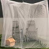 EVEN NATURALS MOSKITONETZ Doppelbett, XL Mückennetz für Bett, feinste Löcher, rechteckiger Netzvorhang Reise, Insektenschutz, 2 Einträge, einfache Anbringung, Tragetasche, Keine Chemikalien - 4