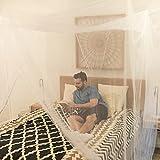 EVEN NATURALS MOSKITONETZ Doppelbett, XL Mückennetz für Bett, feinste Löcher, rechteckiger Netzvorhang Reise, Insektenschutz, 2 Einträge, einfache Anbringung, Tragetasche, Keine Chemikalien - 5
