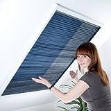 Fliegengitter Plissee für Dachfenster bis max. 100 x 157 cm - Insektenschutz - Dachfensterplissee - 110 x 160 cm | weißer Rahmen - 5