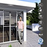 Windhager Insektenschutz Expert Schiebetür, Fliegengitter, Aluminirumrahmen für Türen, 120 x 240 cm, weiß, 03843 - 5