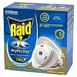 Raid Night & Day Trio Insekten Stecker, Schutz vor fliegenden & kriechenden Insekten, Stecker & 1 Nachfüller, bis zu 300 Stunden - 3